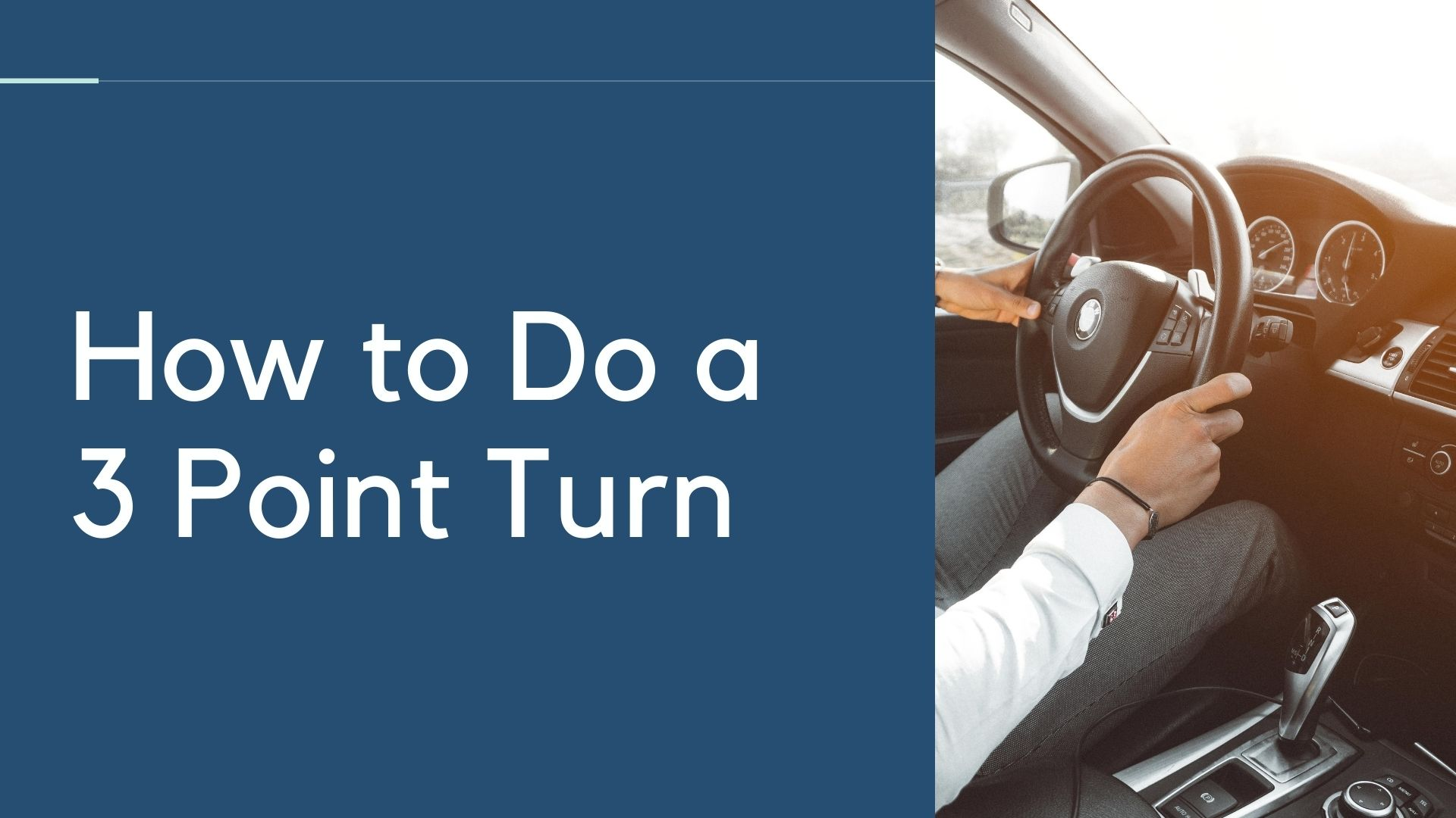 ho wo do a 3 point turn road test
